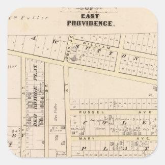 East Providence Rhode Island Square Sticker