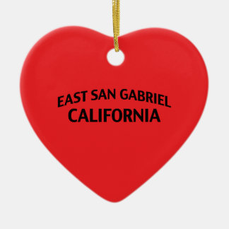 East San Gabriel California Christmas Ornament