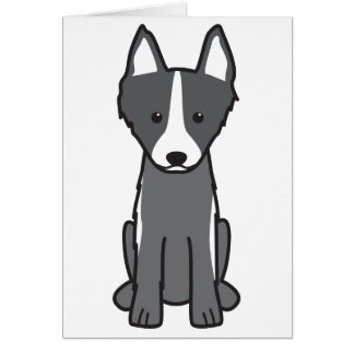 East Siberian Laika Dog Cartoon Card