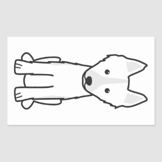 East Siberian Laika Dog Cartoon Rectangular Sticker