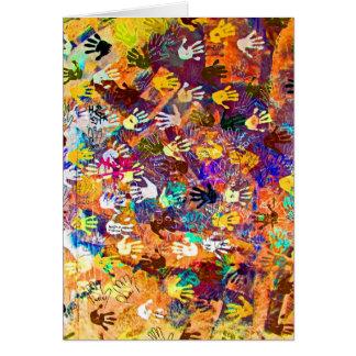 East Side Gallery, Berlin Wall, Hands (2) Card