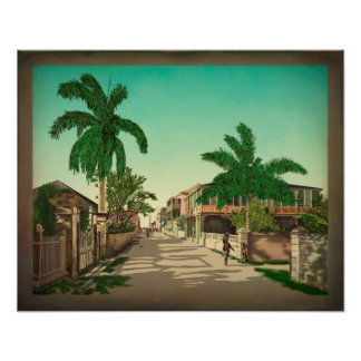 East Street In Nassau Poster