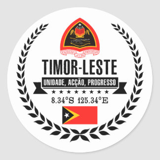 East Timor Classic Round Sticker