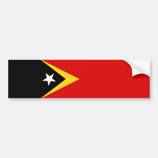 east timor country flag nation symbol long bumper sticker