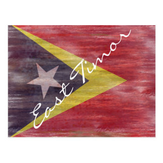 East Timor distressed flag Postcard