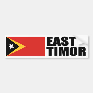 East Timor Flag Bumper Sticker