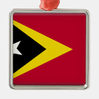 East Timor Flag Christmas Ornament