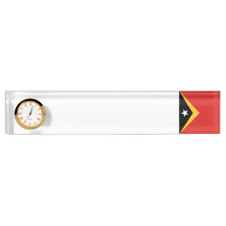 East Timor Flag Name Plate