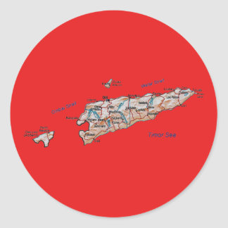 East Timor Map Sticker