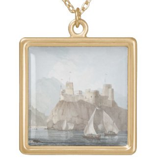 East View of the Forts Jellali and Merani, Muskah, Gold Plated Necklace
