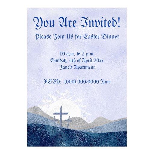 Easter 3 crosses invitations