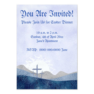 Easter 3 crosses invitations