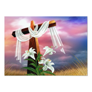 Easter and Palm Sunday Crosses and Scenes 13 Cm X 18 Cm Invitation Card