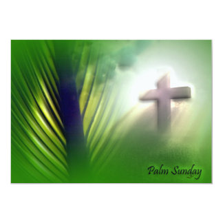 Easter and Palm Sunday Crosses and Scenes 5x7 Paper Invitation Card