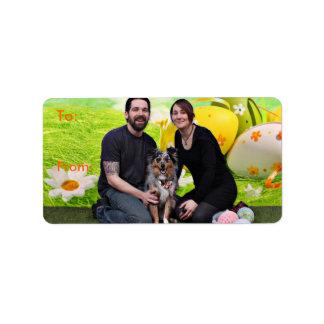 Easter - Australian Shepherd - Silas Barker Address Label