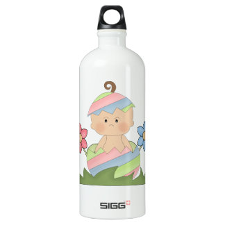 Easter Baby in Colorful Egg Water Bottle