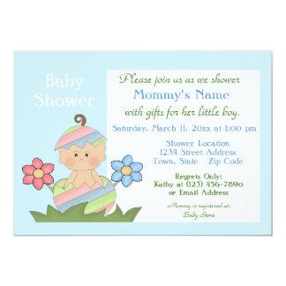 Easter Baby Shower Invitation - Blue