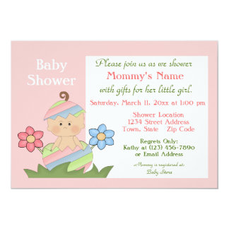 Easter Baby Shower Invitation - Pink