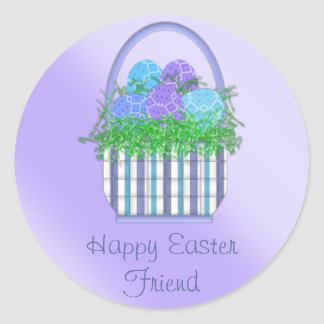 Easter Basket Collection Round Sticker