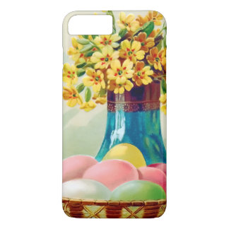 Easter Basket Colored Eggs Vase Daisies iPhone 8 Plus/7 Plus Case