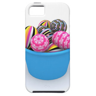 Easter basket full of colorful eggs iPhone 5 cases
