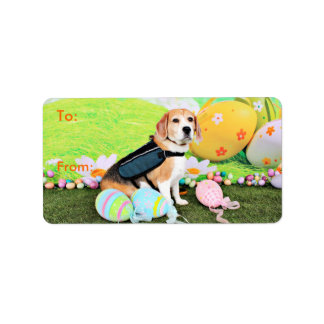 Easter - Beagle - Brady Address Label