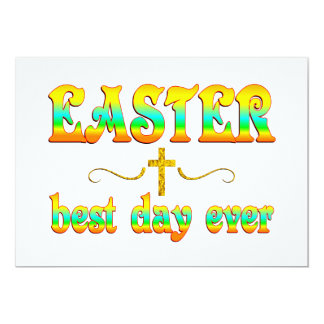 "Easter Best Day Ever 5"" X 7"" Invitation Card"