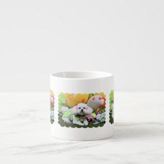 Easter - Bichon Frise - Mia Espresso Cup
