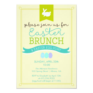 Easter Brunch & Easter Egg Hunt Invitation
