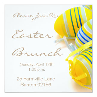 """easter brunch square 5.25"""" x 5.25"""" Invitations"""