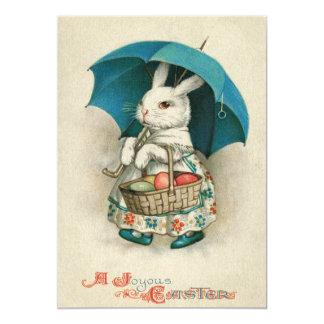 Easter Bunny Basket Colored Egg Umbrella Card