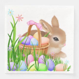 Easter bunny basket party serving napkins paper serviettes
