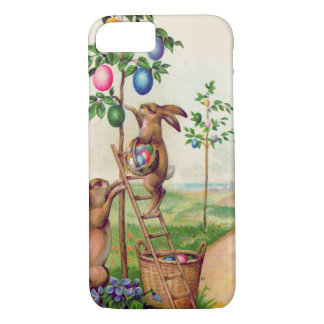 Easter Bunny Colored Egg Tree iPhone 7 Case