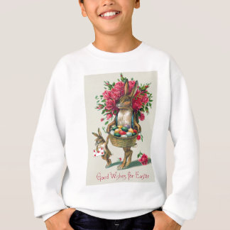 Easter Bunny Dad Child Rose Basket Egg Sweatshirt