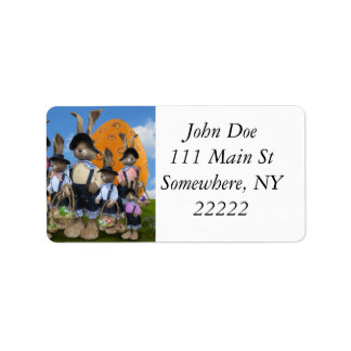 Easter Bunny Display Address Label