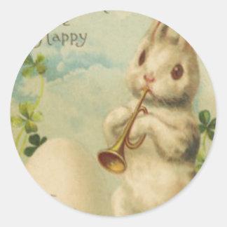 Easter Bunny Egg Four Leaf Clover Trumpet Stickers