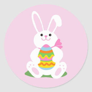 Easter Bunny | Egg Hunt Round Sticker