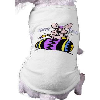 Easter Bunny & Egg Sleeveless Dog Shirt