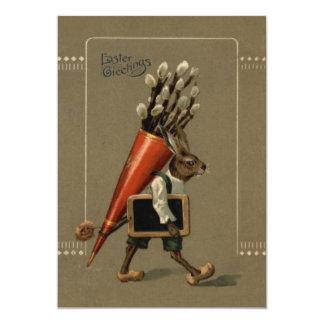 Easter Bunny Flower Card