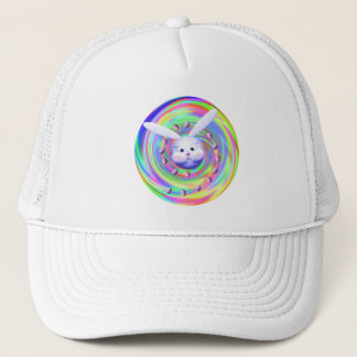 Easter Bunny Head Spin Trucker Hat