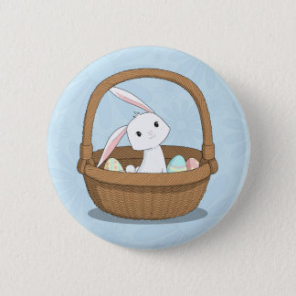 Easter Bunny in a Basket 6 Cm Round Badge