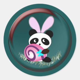 Easter bunny Panda Round Sticker