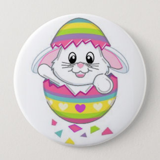 Easter Bunny Rabbit Button Pin On Spring Adorable