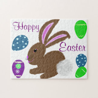 Easter Bunny Rabbit Decorated Eggs Jigsaw Puzzle