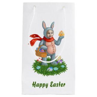 Easter bunny. small gift bag