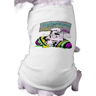 Easter Bunny Stop Here Sleeveless Dog Shirt