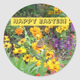 Easter Butterfly Round Sticker