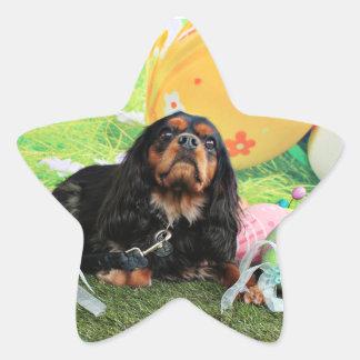 Easter - Cavalier King Charles Spaniel - Charlie Star Sticker