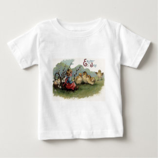 Easter Chick Basket Egg Lily Child Field Baby T-Shirt