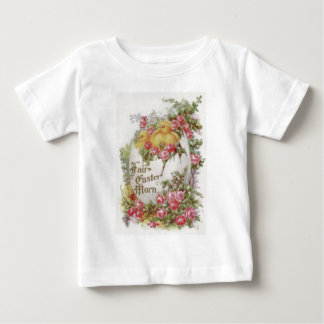 Easter Chick Egg Red Pink Rose Baby T-Shirt